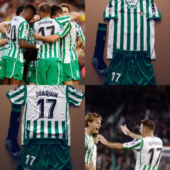 59acf5fbd306 Joaquin  17 Real Betis 2019 KIDS Soccer Jersey Kit. NWT. Kappa